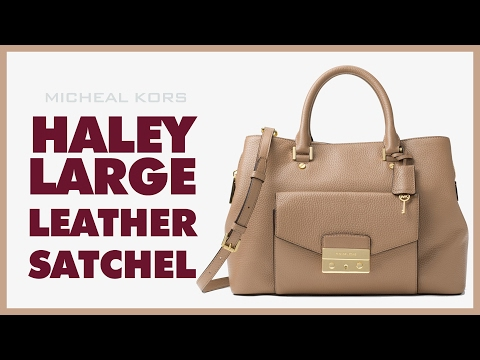 0146b2cc147dc Michael Kors Haley Large Leather Satchel