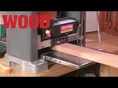 How To Adjust Your Planer To Eliminate Sniping - WOOD magazine