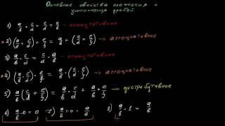 Математика Арифметические действия над дробями 2