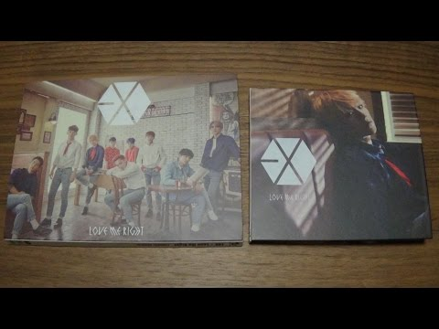 Unboxing EXO 1st Japan Single Love Me Right ~romantic universe~ [CD+DVD & Baekhyun Edition]