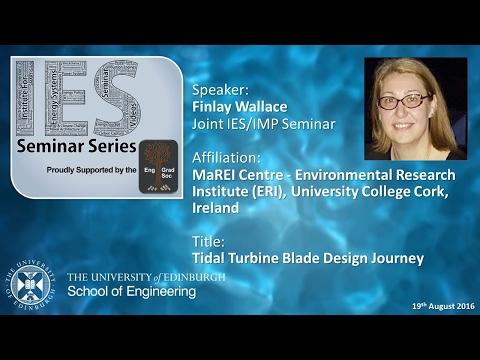 Tidal Turbine Blade Design Journey - Dr Vesna Jaksic