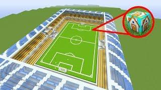 มายคราฟ วิธีสร้างสนามฟุตบอลที่ใหญ่ที่สุดในมายคราฟ โดยใช้บล็อกเดียว! ในมายคราฟ