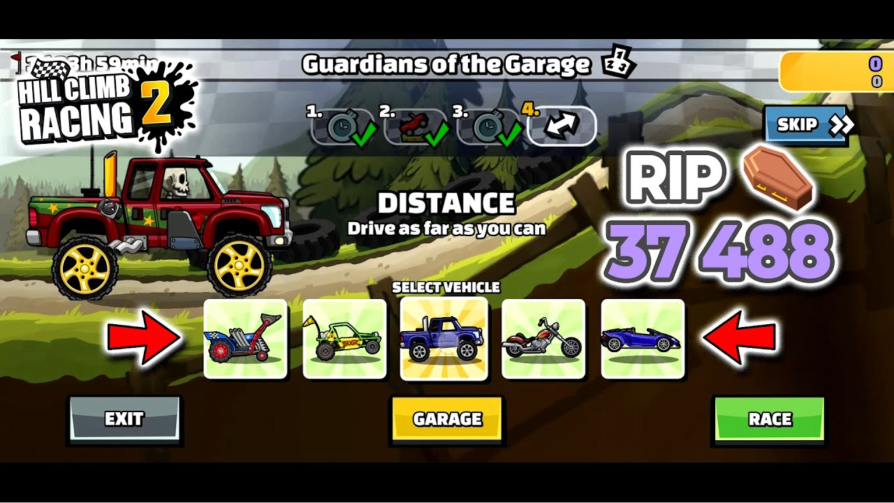 Hill Climb Racing 2 Team Event - RIP 37488 in GUARDIANS OF THE GARAGE