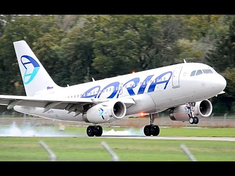 Airbus A319 by Adria - Landing in Berne HD