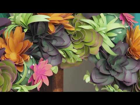Sizzix DIY Kit: Succulent Wreath with Katelyn Lizardi