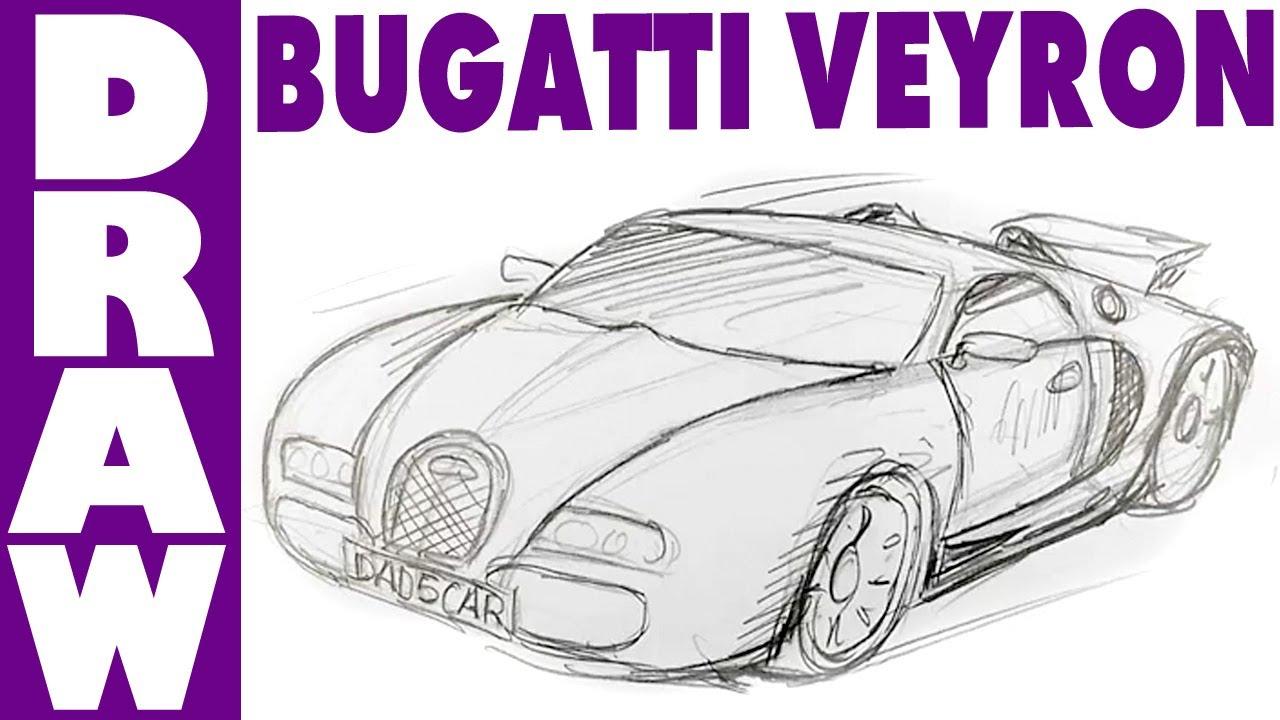 How To Draw A Bugatti Veyron Spoken Tutorial Youtube