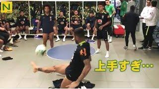 ブラジル代表のサッカー卓球が凄すぎる!