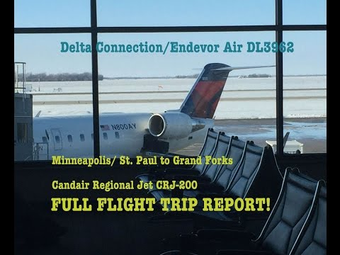#36: SNOWY FLIGHT REPORT | Delta Connection DL3962 | Minneapolis (MSP/KMSP) - Grand Forks (GFK/KGFK)