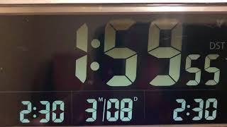 March 8, 2020 Daylight Savings Time DST Change SPRING FORWARD In Florida, USA 03/08/2020 08/03/2020