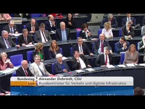 Bundestag: Debatte zur Infrastrukturabgabe und Verkehrsteuern (Pkw-Maut) am 24.03.2017