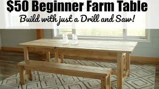 Beginner Farm Table Project Plans