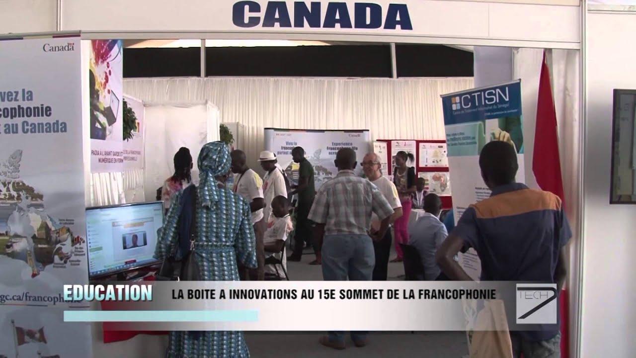 LA BOITE A INNOVATIONS AU SOMMET DE LA FRANCOPHONIE mp4