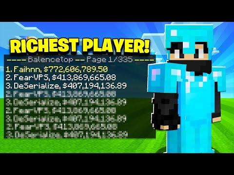 HOW WE BECAME THE *RICHEST* ON THE ENTIRE SERVER! | Minecraft Skyblock | OPLegends #2
