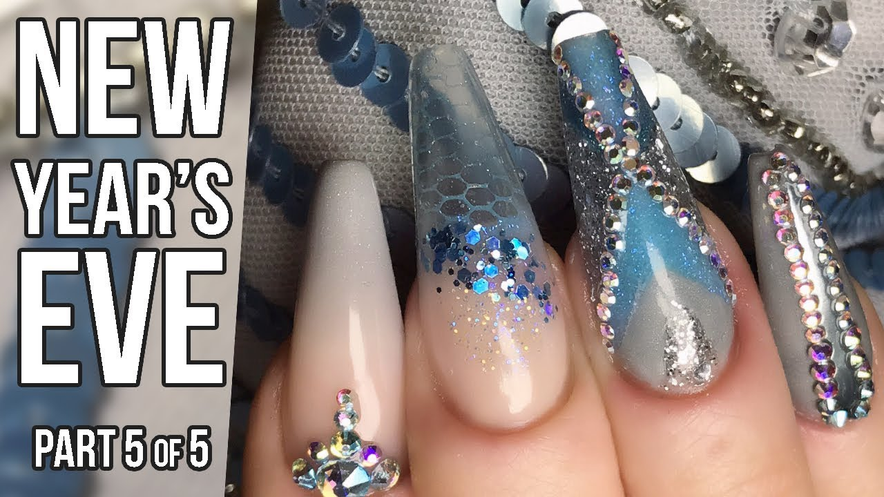 Fashion Matching Nail Design Part 5 - Stamping and Stones - New ...