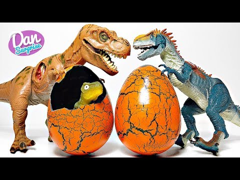 HATCHING NEW DINOSAUR EGGS TOYS WITH JURASSIC DINOSAURS | Fun Video for Kids!