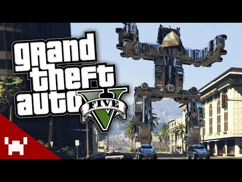 THE GIANT ROBOT | GTA 5 Online Free Roam w/ Ze, Chilled, GaLm, Tom, & Smarty