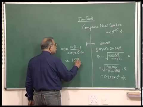 Mod-01 Lec-31 Nuclear reaction Contd..