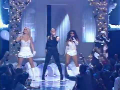 Britney Spears, Christina Aguilera, Madonna & Missy Elliott   Like A Virgin & Hollywood  At MTV