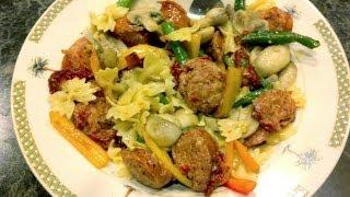 Italian Sausage Sun Dried tomato Bow tie pasta