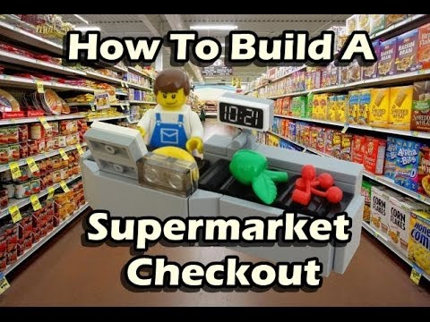 How To Build A Lego Supermarket Checkout Youtube