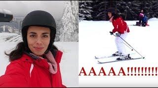Mój pierwszy raz na nartach!! aaaaaaa...