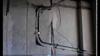 Видеоотчет № 2. Ремонт квартир в новостройке -  трассы сплит-систем(, 2013-09-06T20:17:58.000Z)