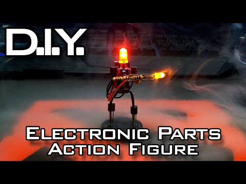 "DIY Electronic Parts Action Figure | ""REGG-E"" [From Concept to Creation]"