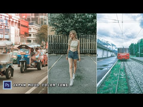 JAPAN Mood Color Tone Gradient Effect | Photoshop Editing Tutorial thumbnail