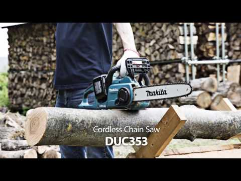 Makita DUC353Z Twin 18v / 36v LXT Cordless 35cm Chainsaw Lithium Ion