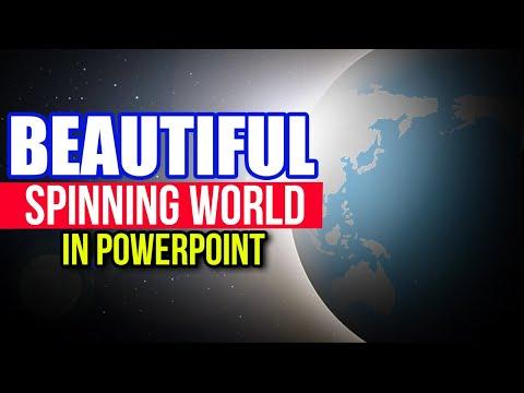 Beautiful Spinning World In PowerPoint (Animation Tutorial)