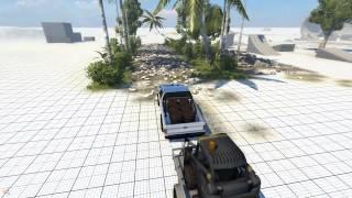 BeamNG.drive Trailer & Wheelie Truck