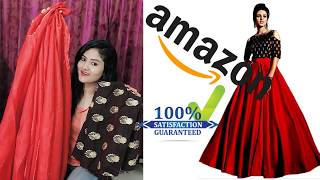 Amazon Lehenga Unboxing and Review|Worth it ??|Affordable Lehenga for Rs 799