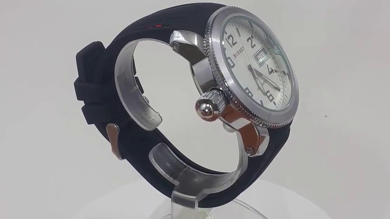 3347eeefcf5 Relógio Masculino CURREN Analógico 8173 (DATA ILUSTRATIVO) Preto e Prata