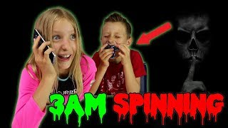 SPINNING 2 FIDGET SPINNERS at 3AM!!!