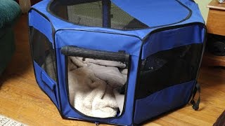 "How to setup the YoYo Moon 45"" Pet Puppy Dog Playpen Exercise Puppy Pen Kennel"
