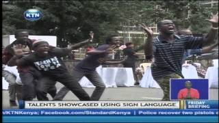 Talent show held in Nairobi by Kenya association of the deaf and the Christian missionary aid.