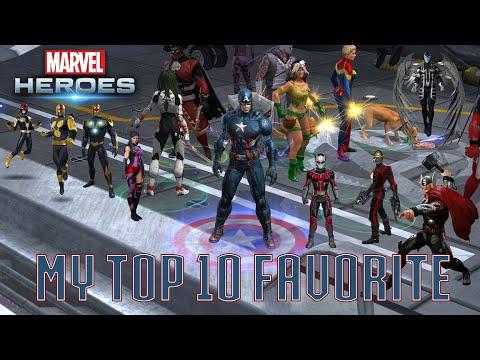 Marvel Heroes - My Top 10 Favorite Characters in Marvel Heroes