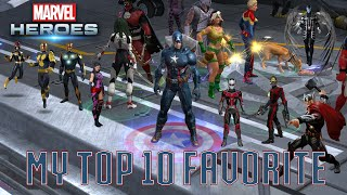 Marvel Heroes - My Top 10 Favorite Characters in Marvel Heroes