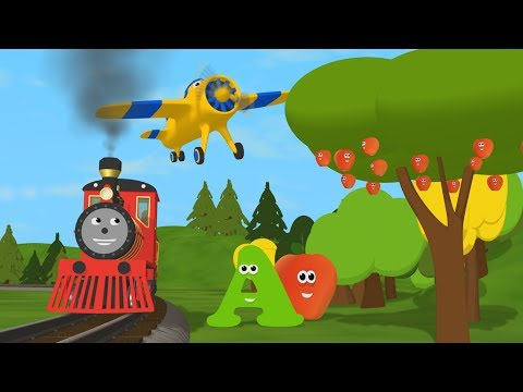 Learn about the Letter A - The Alphabet Adventure With Alice And Shawn The Train
