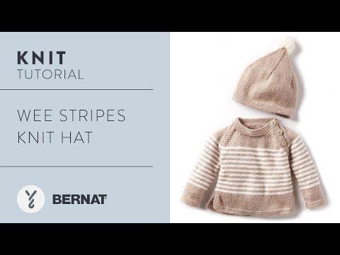 efbe176f9 Knit Hat:Wee Stripes Knit Hat - YouTube