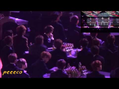 150122 SMA BTS & EXO Reaction To Red Velvet- Happiness