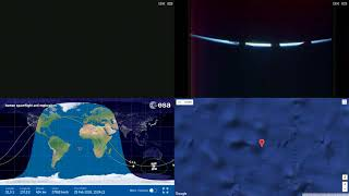 Sunset Around Australia - ISS Space Station Earth View LIVE NASA/ESA Cameras And Map - 95