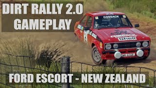 DiRT RALLY 2.0 GAMEPLAY   NEW ZEALAND   FORD ESCORT BDA AUDIO   CHASE & COCKPIT CAMERA