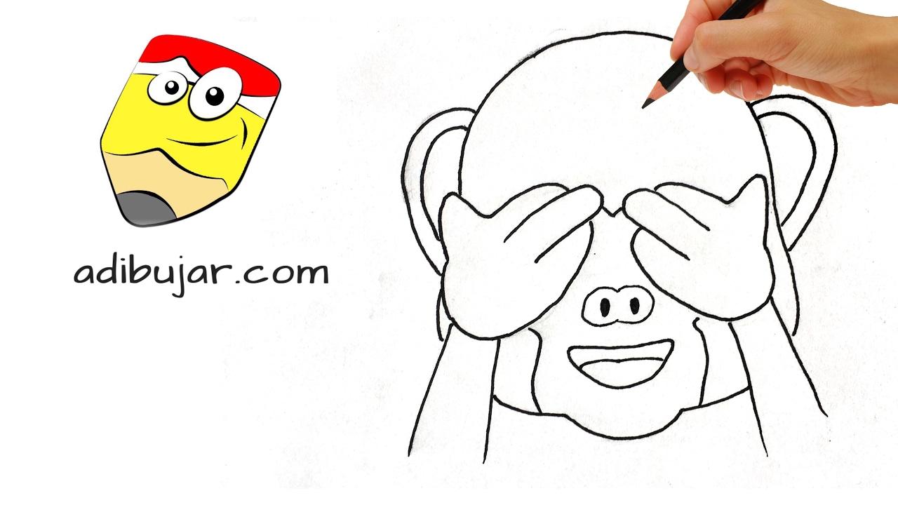 Emoticones Whatsapp Cómo Dibujar El Emoji Mono A Lápiz Paso A Paso Fácil Para Niños