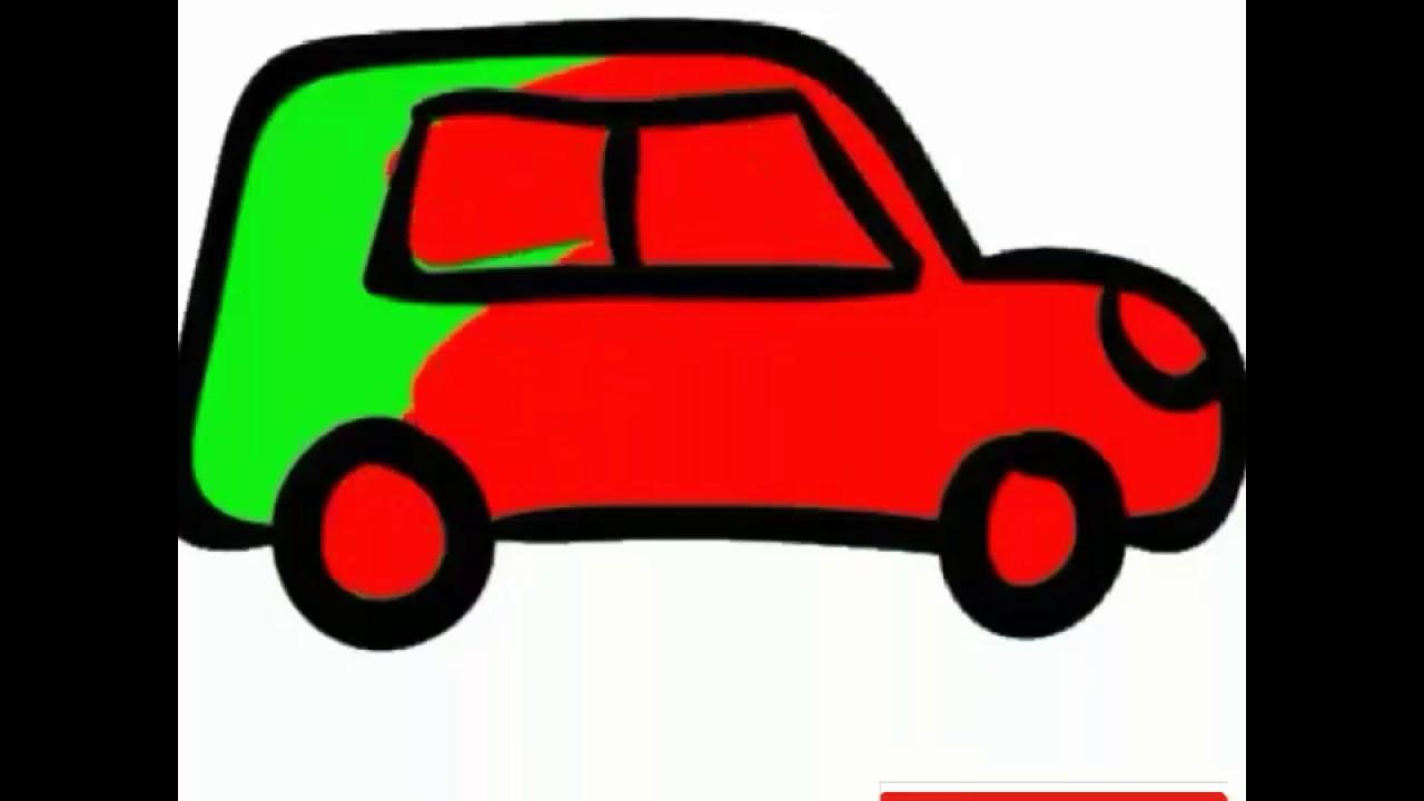 Colouring The Car Video Mewarnai Untuk Anak Youtube