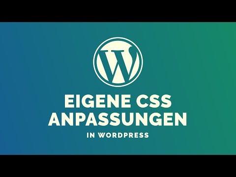 WordPress Theme Mit Eigenem CSS Anpassen