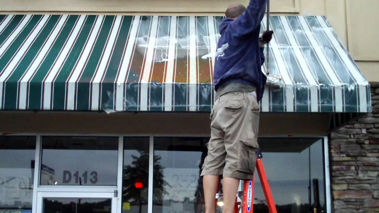 Awning Cleaning Chicago Canopy Cleaning Chicago Youtube