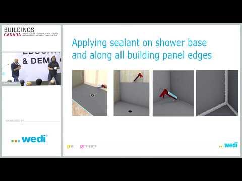 Floor Level Installation System For Tiled Showers