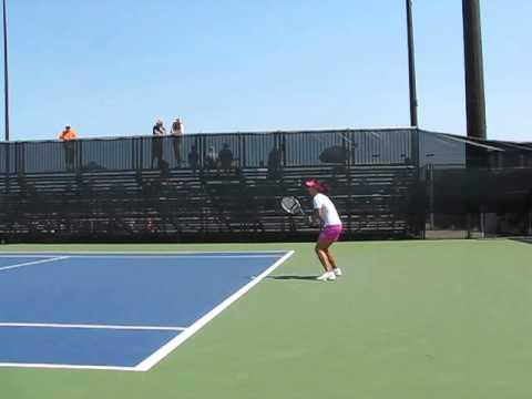 Li Na practice tennis