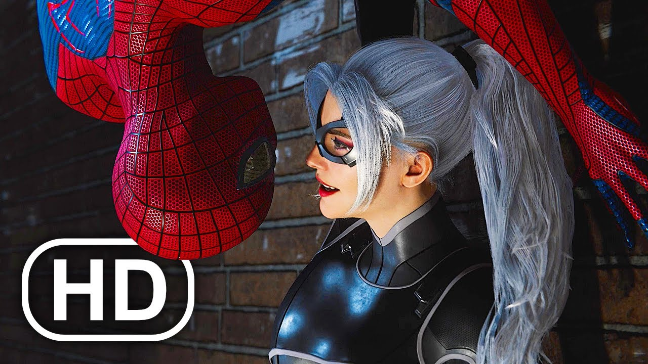 Download The Amazing Spider-Man Kisses Black Cat Almost Scene 4K ULTRA HD - Spider-Man Remastered PS5